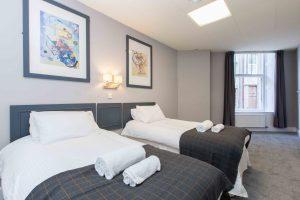 Twin Room, Budget accommodation aberdeen, cheap rooms aberdeen